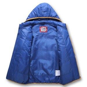 Image 2 - Abrigo cortavientos a prueba de viento para niño, chaqueta desmontable con capucha para niño, Otoño e Invierno