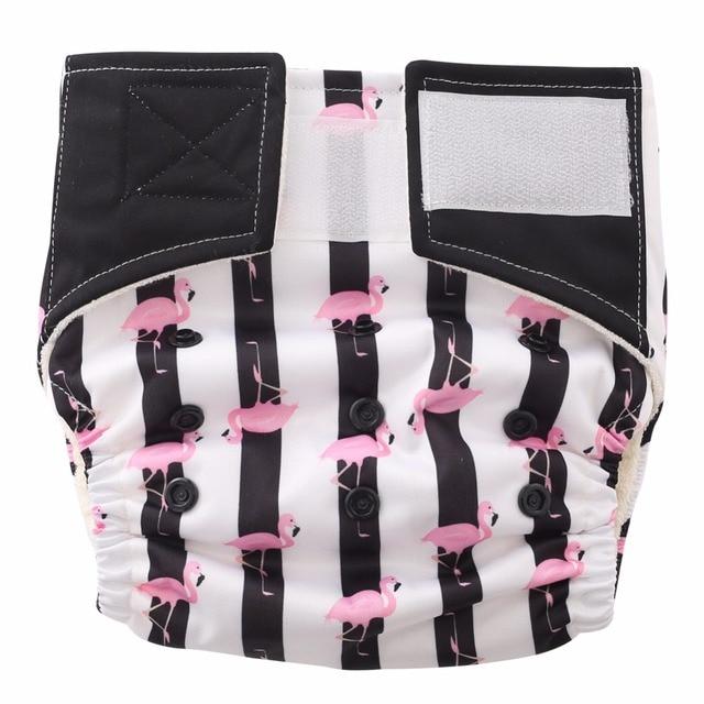 Fashion Stripes!I love Flamingos,One Size Bamboo Diaper Pocket (Newborn to 30lbs.)