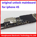 16 gb placa lógica para o iphone 4s motherboard placa lógica mainboard original de fábrica desbloqueado telefone inteligente ios instalado sistema