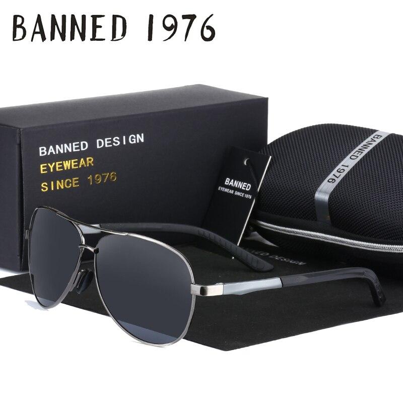 15586cb39a De aluminio y magnesio gafas de Sol Polarizadas de los hombres de moda  deisnger marca Conducción Gafas de Sol con la bisagra del resorte de la  pierna y caja ...