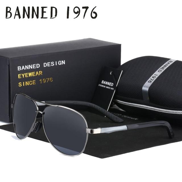 747eab79c7 aluminium magnesium Polarized men s Sunglasses fashion brand deisnger Driving  Sun Glasses with spring hinge leg and