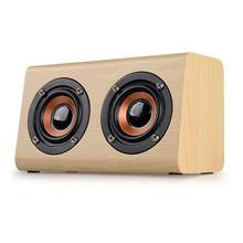Retro Wooden Wireless Bluetooth Speaker Portable Player Speakers for TV Home Theatre Wood Sound Bar Support TF Card AUX
