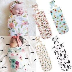 Pudcoco mais recentes chegadas quente infantil bebê recém-nascido da criança swaddle cobertor swaddle bebê dormir musselina envoltório bandana sorte criança