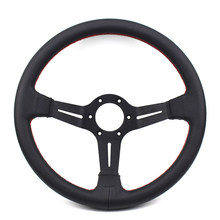 14 inch 350mm Zwart Deep Dish leren ND Drift Racing Stuurwiel(China)