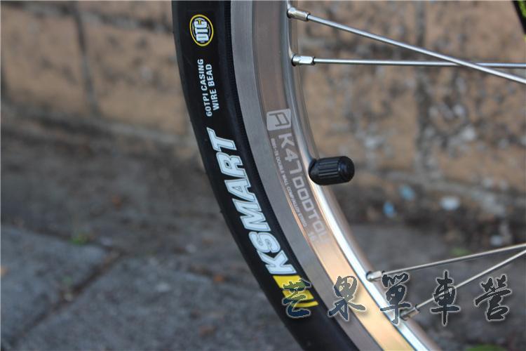 "HTB1DK5IXNrvK1RjSszeq6yObFXav Fnhon CR-MO Steel Folding Bike 16"" Minivelo Mini velo 9 Speed Bike Bicycle overall bike V Brake"