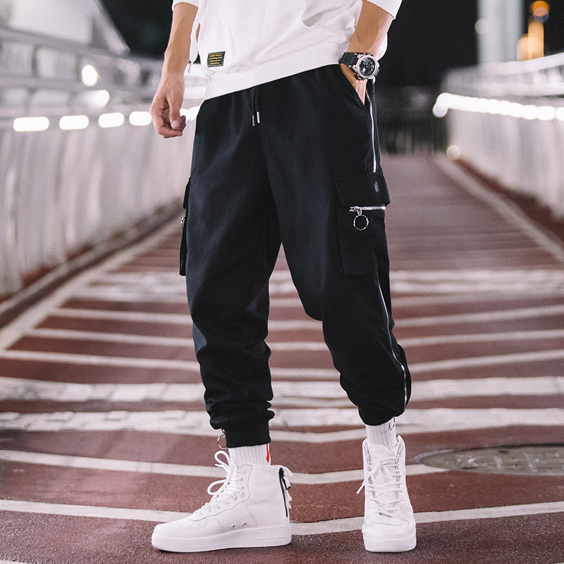 Cargo Pant Men Jogger Elastic-Waist Streetwear Loose Zipper Male Plus-Size Hip-Hop Casual