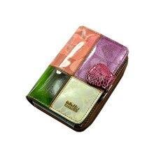 Lady short leder brieftasche frauen 3 falten multi-funktion dame handtasche enthält spezielle veränderung frauen haspe geldbörse tasche karte