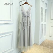 Modabelle Grey Pearls Bridesmaid Dresses Long Tulle Lace Wedding Party Dresses Dubai Bridesmaid Dress Vestido De Madrinha Longo