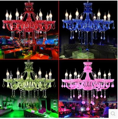 Marvel coffee shop chandelier. Crystal candle KTV. Colored chandeliers