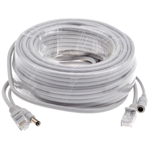 Image 5 - GADINAN 5M/10M/15M/20M/30M Optional Gray CAT5/CAT 5e Ethernet Cable RJ45 + DC Power CCTV Network Lan Cable For System IP Cameras