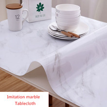High grade Imitation marble Pvc coffee table mat custom made waterproof oilproof Heat resistant tablecloth Dressing cover