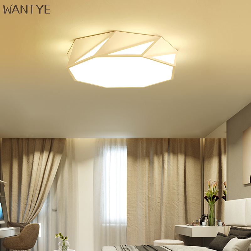 Dining Room Ceiling Light Fixtures: Geometric Modern Flush Mount Ceiling Light LED Indoor