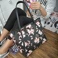 Mariposa Mujeres de la Impresión Floral Bolsos de Gran Capacidad de Cuero Tote Bags Bolsos De Hombro Bolsas de Asas de Impresión sac borse canta