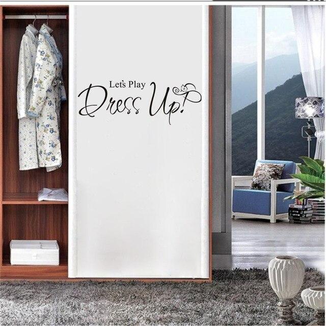 CaCar Letu0027S Play Dress Up Girls Room Wall Stickers Art Vinyl Removable  Waterproof Bedroom Self Adhesive