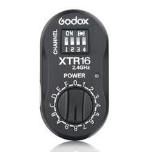Godox XTR-16 flash receptor 2.4g x-system sem fio para x1c x1n XT-16 transmissor gatilho wistro ad360/de/qt/dp/qs/gs/gt series