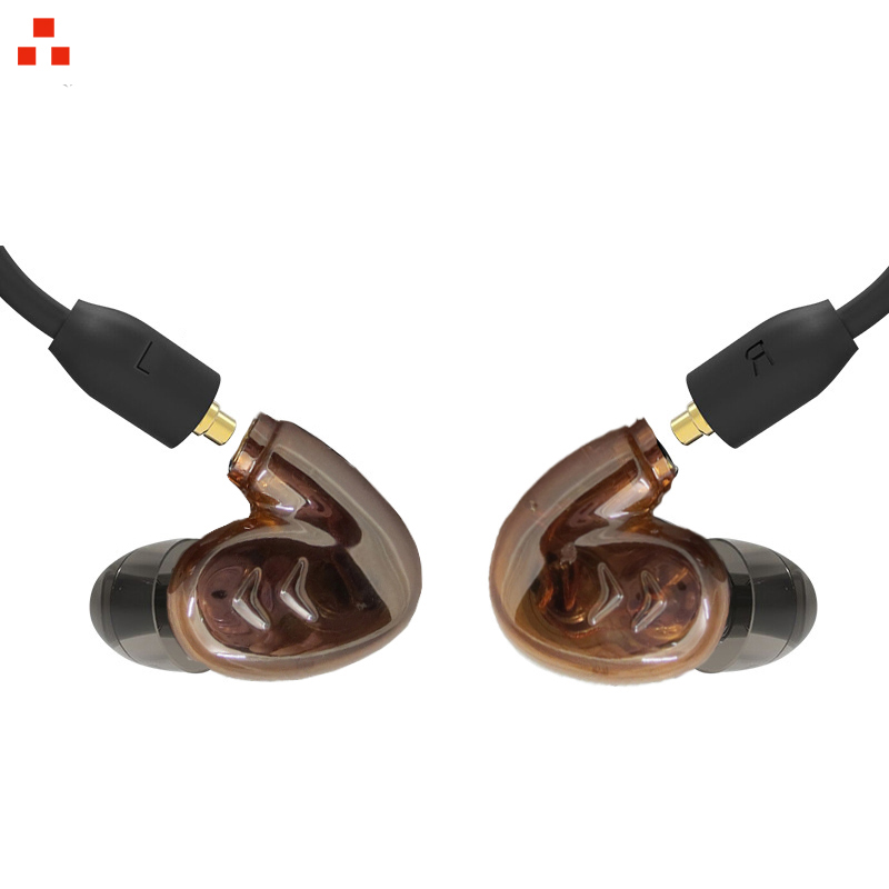 PIZEN Dual Dynamic <font><b>4</b></font> <font><b>drivers</b></font> Sport Earbuds Earphones with mmcx mic cable for shure se535 se215 se846 headset image