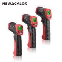 NEWACALOX инфракрасный ЖК-дисплей цифровой термометр бесконтактный температура тесты er промышленный ИК лазерная точка пистолет температура те...