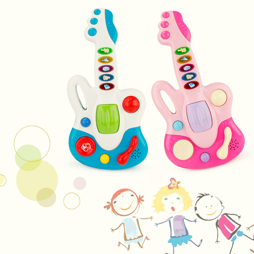 New Cartoon Guitar Toy With Light for Infants Children and Kids come with the lighting and singing function