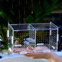 Aquarium fish tank isolation box acrylic guppies isolation box hatching box fry small fish juvenile fish Betta fish breeding box