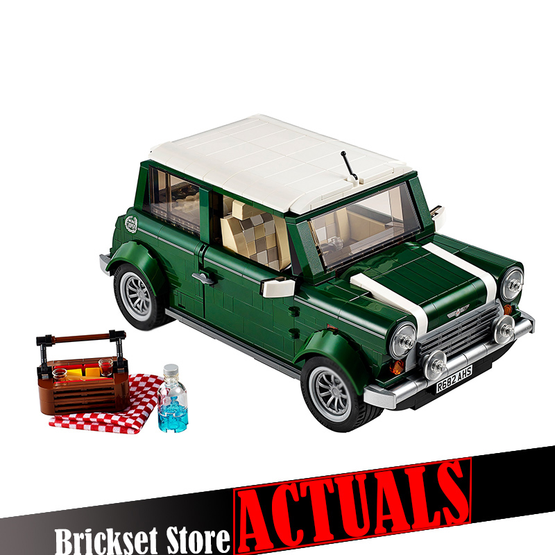Lepin Ttechnic Creator 21002 MINI Beetle Cooper T1 21003 Model Building Block Bricks Toys Compatible with ingly 10242 10252 free shipping lepin 21002 technic series mini cooper model building kits blocks bricks toys compatible with10242