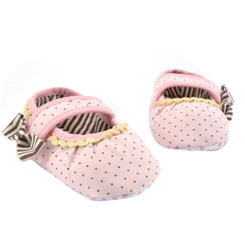 Baby Boy Girl Moccasins Moccs Shoes for Infants Toddlers Kids Dot Printing Shoes Bowknot Lace Toddler Soft Sole Shoes 17Dec27