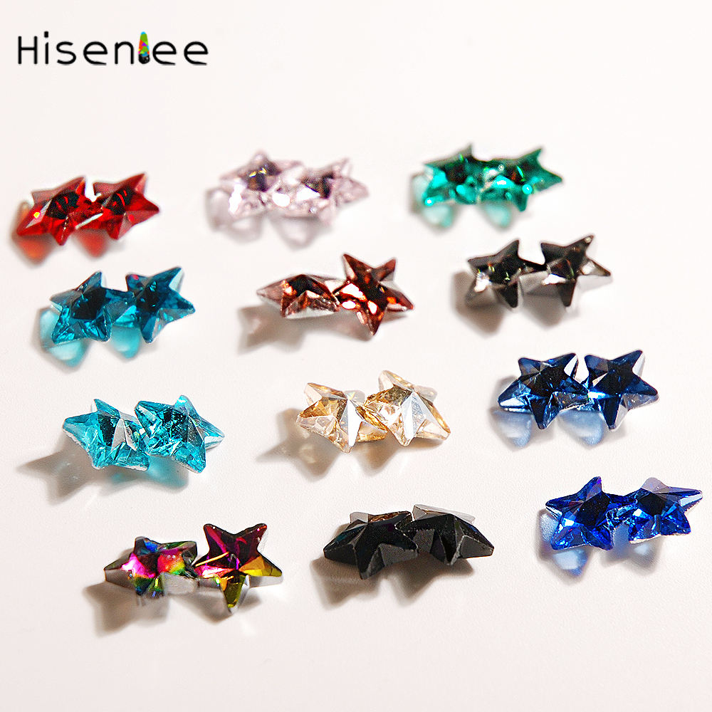 20pcs//bag Multicolor Glass Gem Jewelry Components DIY Material Craft Accessories