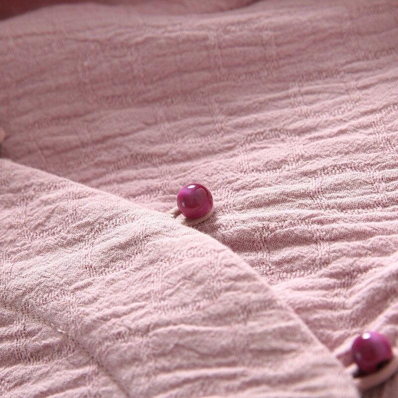 Pendolari Lungo Donne Autunno Servizio Allentato Colore Inverno Fibbia Tè Femminile Appesa Buddha Vestito Rosa Nuovo Ride Delle Da Zen 7x7w6rvq