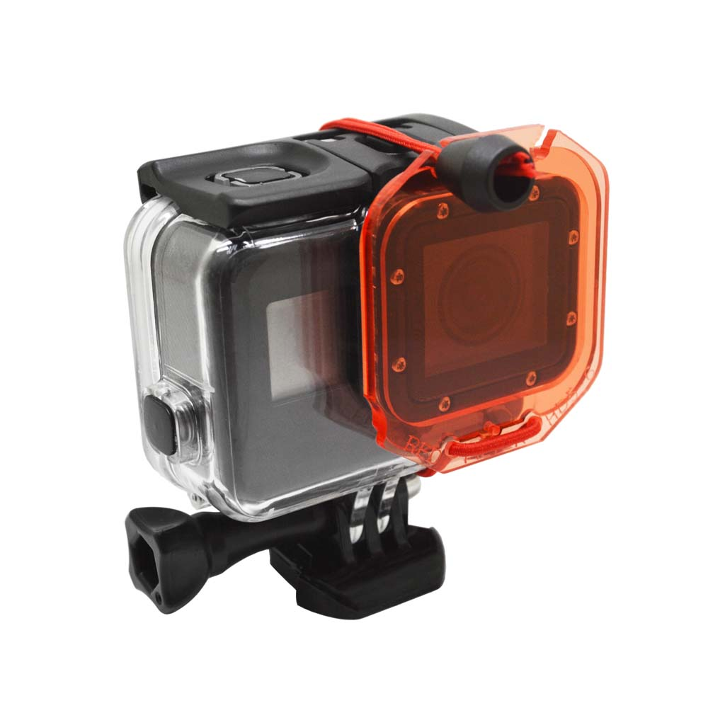 JMFOTO  Red Underwater Diving Lens Filter With Rope For GoPro Hero 5 6 Standard Housing Case For Go Pro 5 6 Action Cam Accessory