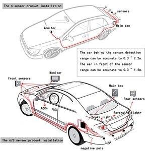 Image 3 - Parkplatz Sensoren Auto Umkehr Radar Doppel CPU Auto Parkplatz Detektor System Anti einfrieren Regen Beweis Auto Rückfahr Sensoren