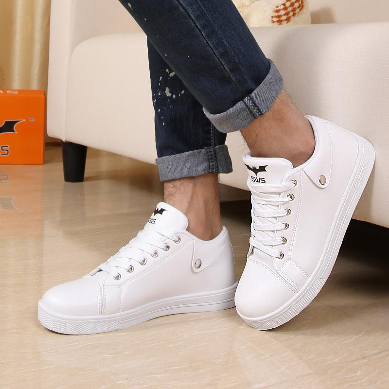 Fashion Men Shoes White Breathable Platforms Casual Student Casual Low Men 39 S Round Toe Shoes
