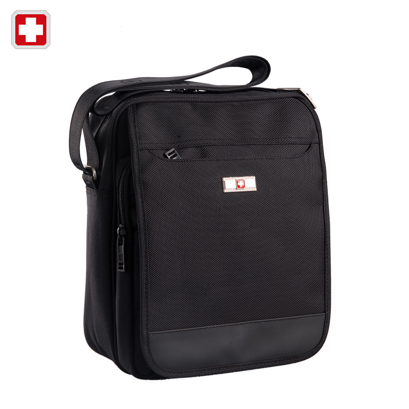 Swisswin Brand Men's Messenger Bag Small Daily Shoulder Bag for Tablets or PDAs Black Unisex Vintage Crossbody Bag Satchels swisswin fashion brand men shoulder bag small black messenger daily phone bag quality waterproof nylon flap zipper crossbody bag