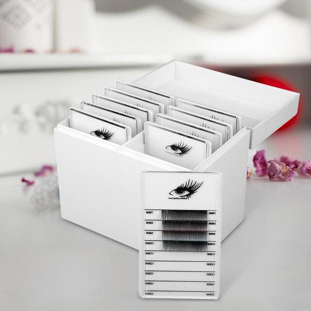 つけまつげ収納ボックスまつげエクステンション 10 層まつげ糊延長オーガナイザーのマニキュアまつげパレット空のボックス