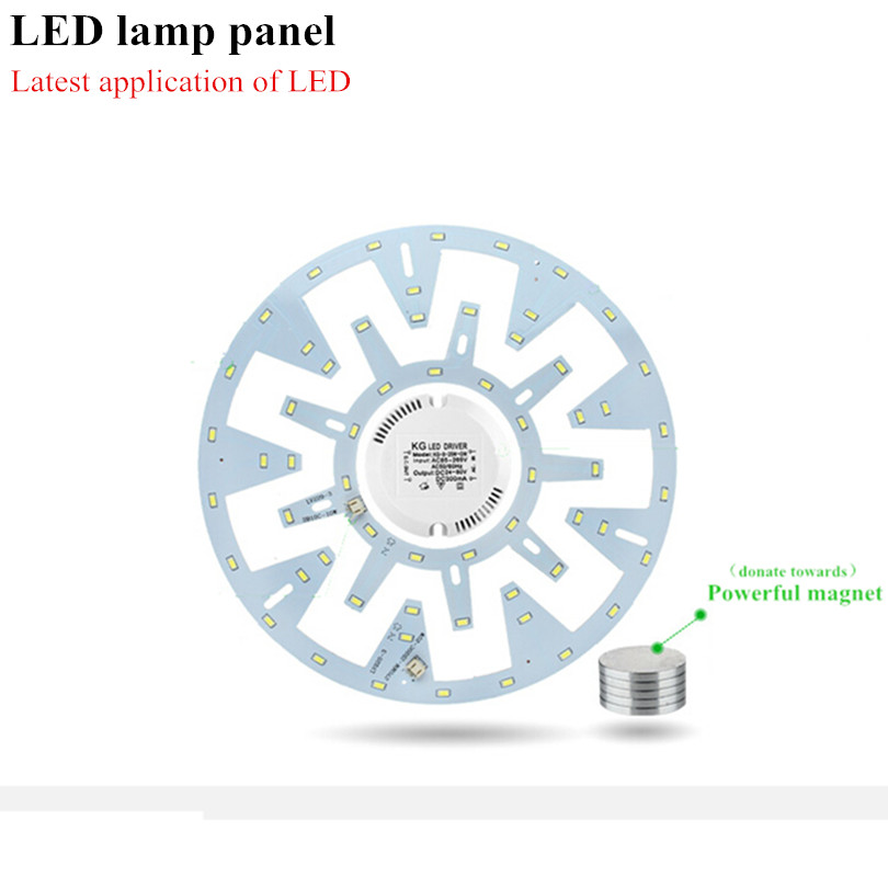 10W 15W 20W 24W Ceiling Fixture LED Ring Panel Circle <font><b>Lights</b></font> 180V-265V AC SMD 5630 Ceiling board the circular lamp board