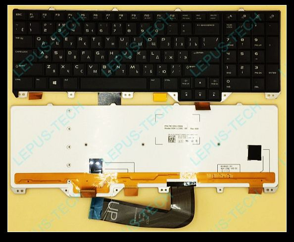 zhichengrp For Alienware M18 RU Russian with backlit Keyboard P55YT 0P55YT-in Replacement