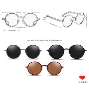 Image 3 - Barcur polarizado óculos de sol redondos de luxo marca masculina retro vintage feminino óculos uv400