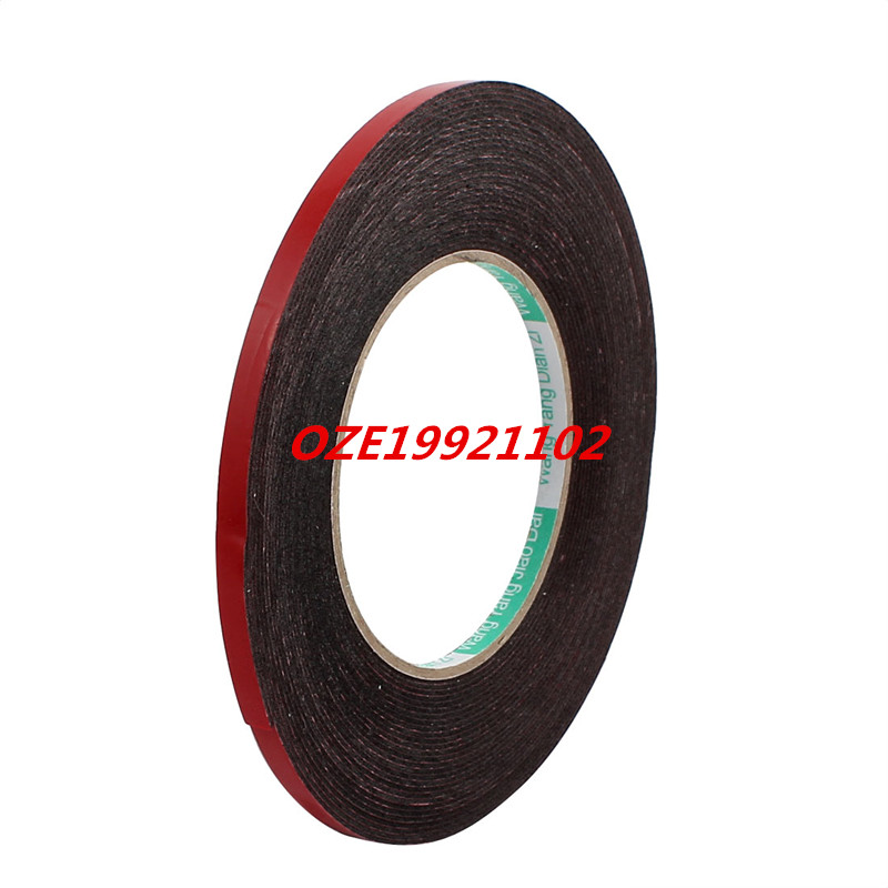 6mm x 1mm Double Sided Self Adhesive Shockproof Sponge Foam Tape 10M Length Red 2pcs 2 5x 1cm single sided self adhesive shockproof sponge foam tape 2m length