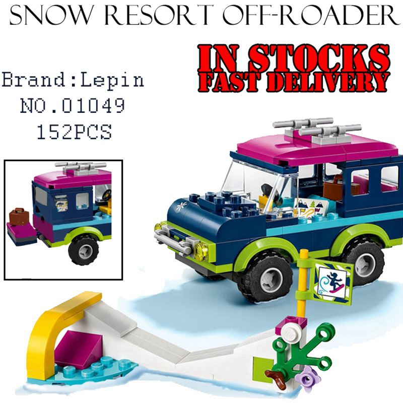 New LEPIN 01049 Snow Resort Off-Roader 152PCS Building Blocks Bricks Enlighten Toys for Girls Birthdays Christmas Gift 41321 de alturas resort 4 гоа