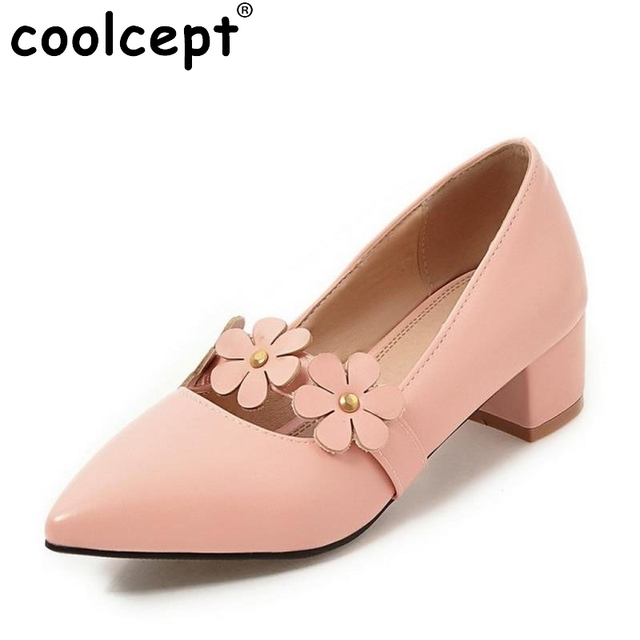 Women Working Shoes With Plus Size Available Casual Women Shoes With Mid Heel and Pointed Toe