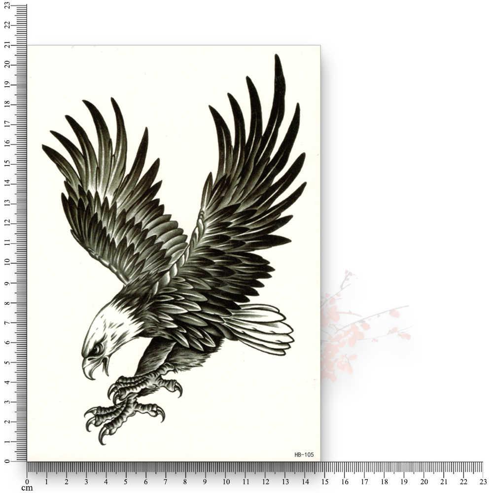 Tatuaje de transferencia al agua falso de águila, resistente al agua pegatina temporal, brazo de flores, arte corporal para belleza sexy para hombres y mujeres, producto guay barato