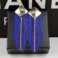 Eh99 кисточка синий kpop ювелирные изделия pendientes brincos boucles d'oreilles бижутерии бижутерия серьги-гвоздики для женщины