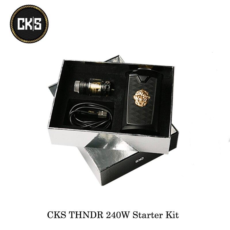 Электронные сигареты CKS THNDR 240 Вт Starter Kit с болт сетки распылитель 6 мл работает на 21700/20700/18650 Vape испаритель комплект