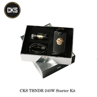 electronic cigarettes CKS THNDR 240W Starter Kit With Bolt Mesh Atomizer 6ML Powered By 18650/20700/21700 Vape Vaporizer Kit