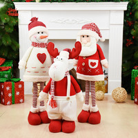 Christmas Decorations for Home Retractable Standing Toy 75cm Christmas Dolls Wedding Party Decor Xmas New Year Adornment Navidad