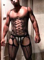 2017 Men S One Piece Stockings Fishnet Socks Men S Siamese Pantyhose Open Crotch Net Tight