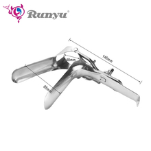 Stainless Steel Vaginal Anal Speculum Mirror Device Anus Pussy Dilator Anal Toys Anal Vagina Enema Expander Sex Products chastity locks plastic vagina expansion device adult genitals anal vaginal dilator colposcopy speculum virgin lock