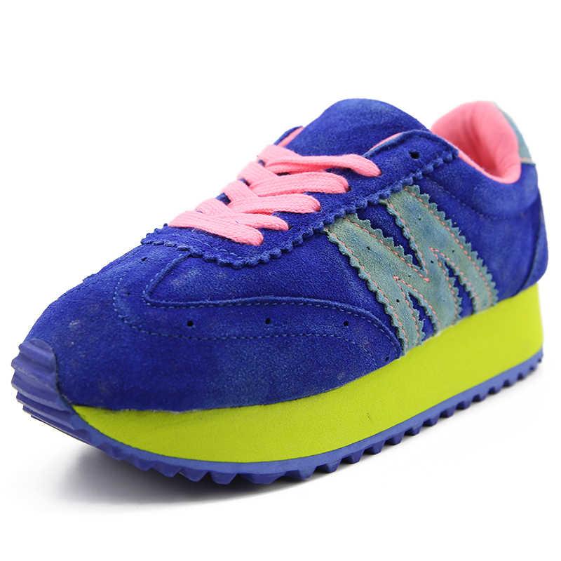 Plardin Mới Chính Hãng Da Giày Người Phụ Nữ Cân Bằng Đi Bộ Da Cho Nữ Giày Oxford Nữ Balo Giày Sneakers
