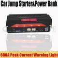 2017 High Capacity 12V Petrol Diesel  Car Jump Starter Mobile 4USB Power Bank 600A Peak Car Charger SOS Lights Free Ship