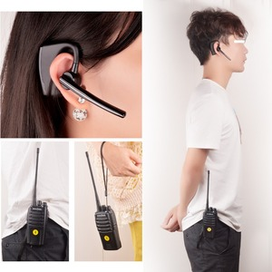 Image 5 - Bluetooth Walkie Talkie 5W UHF 400 480MHz Gebaut in Bluetooth modul Portable Two way radio mit drahtlose Bluetooth headset 16CH