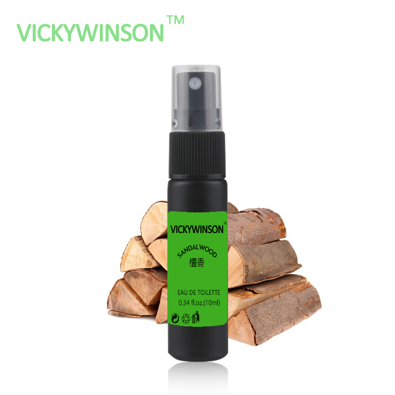 Купить с кэшбэком VICKYWINSON Sandalwood fragrance 10ml Body Spray Scent Lasting Fragrance for Women & Men Sweat Deodorant XS19