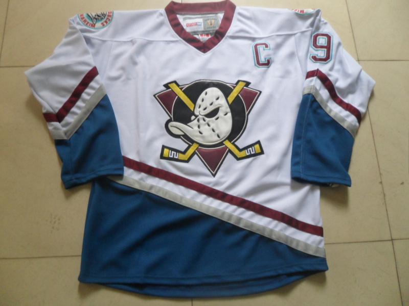 38219d339 ... Online Shop For Sale Cheap Paul Kariya Jersey Anaheim Mighty Ducks  Jersey 9 CCM Vintage Throwback ...